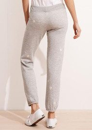 SUNDRY Daisy Patch Sweatpants - Heather Grey