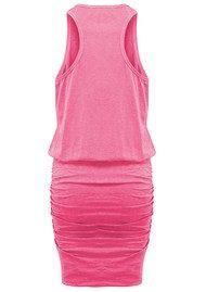 SUNDRY U Neck Dress - Peony Pigment