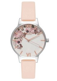 Olivia Burton Enchanted Garden Midi Dial Watch - Nude Peach & Silver