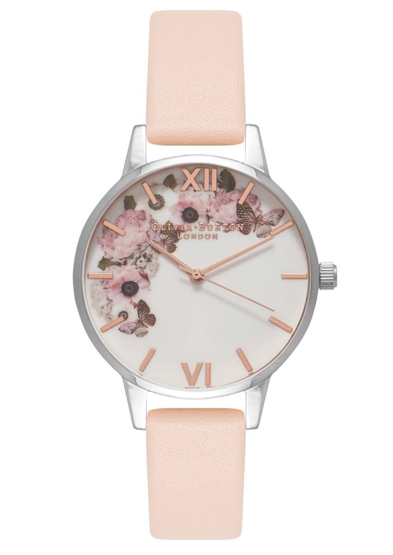 Olivia Burton Enchanted Garden Midi Dial Watch - Nude Peach   Silver ace7e486c0