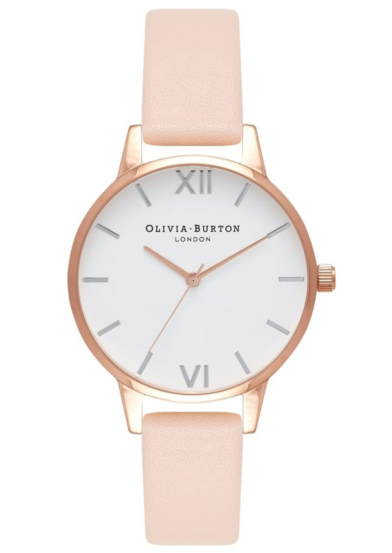 Olivia Burton Midi Dial White Dial Watch - Nude Peach & Rose Gold & Silver main image