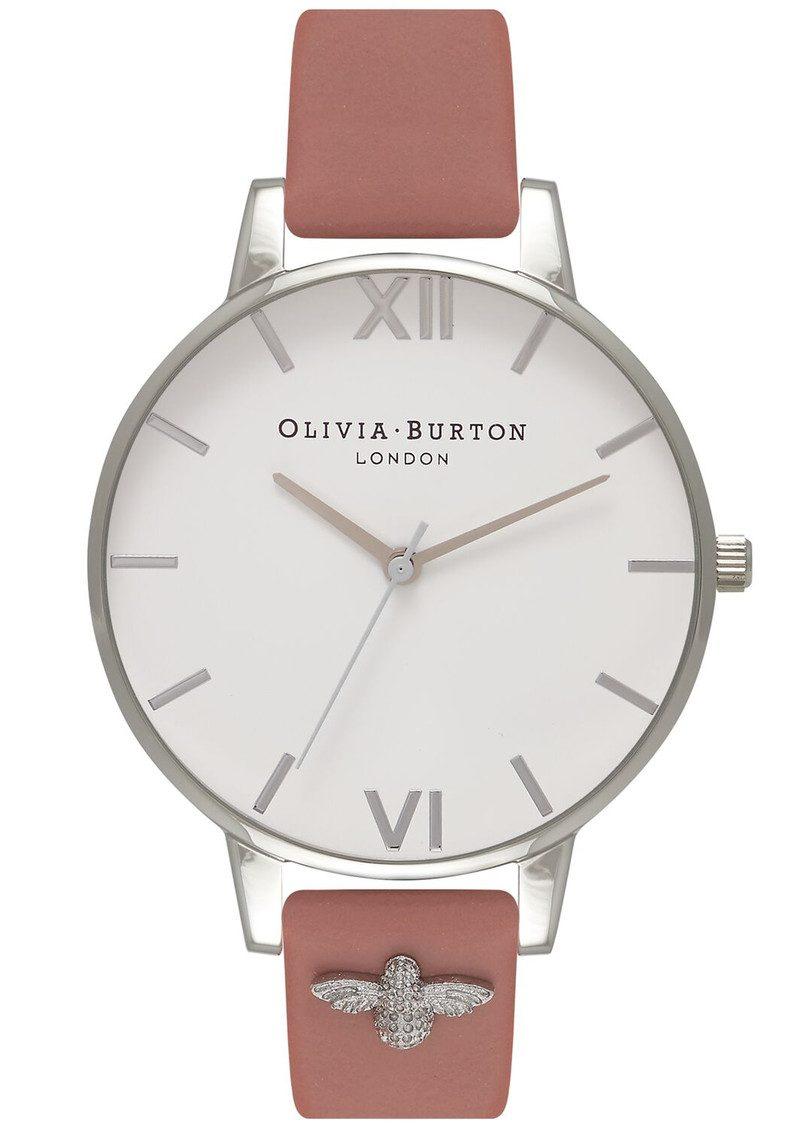 Olivia Burton 3D Bee Embellished Strap Watch - Rose & Silver main image