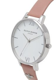Olivia Burton 3D Bee Embellished Strap Watch - Rose & Silver
