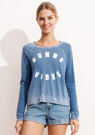 SUNDRY Bonne Vibes Cropped Pullover - Rose