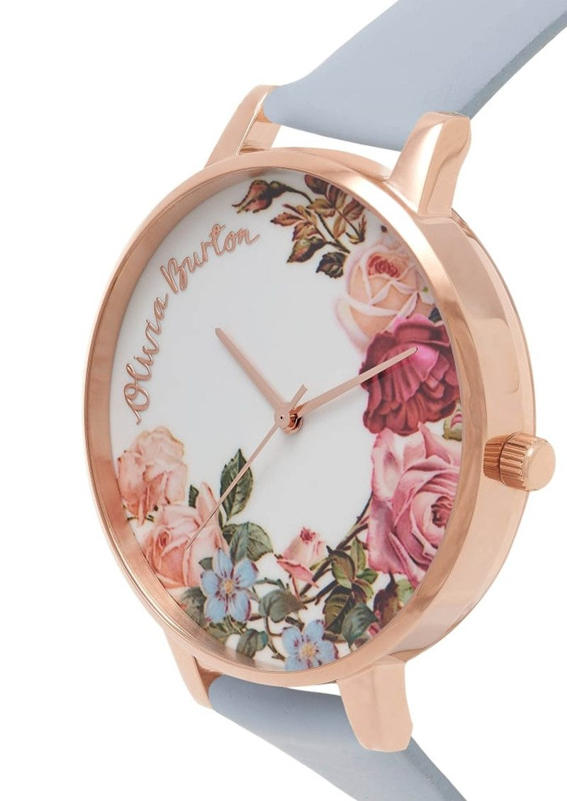 Olivia Burton English Garden Watch - Chalk Blue & Rose Gold main image