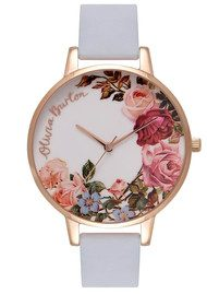 Olivia Burton English Garden Watch - Chalk Blue & Rose Gold