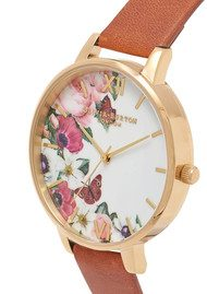 Olivia Burton English Garden Watch - Tan & Gold