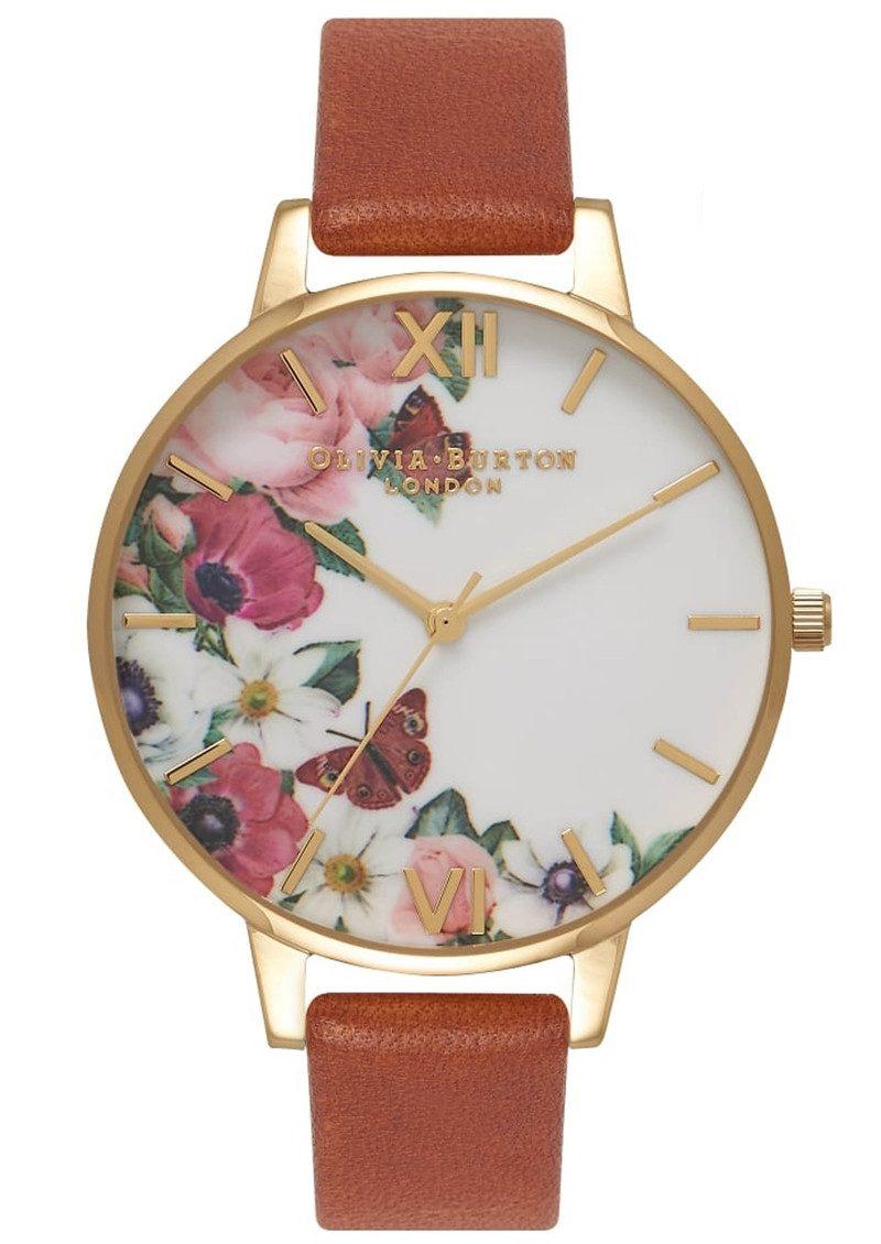 Olivia Burton English Garden Watch - Tan & Gold main image