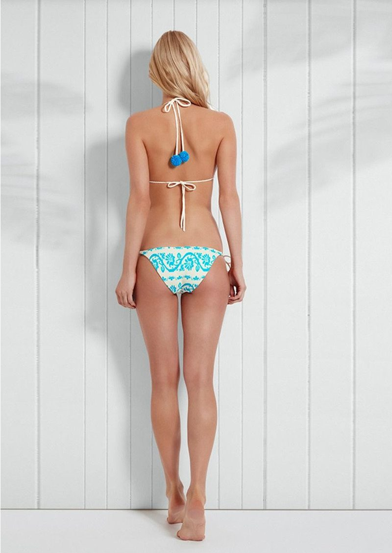 HEIDI KLEIN Sophie Anderson Isla Baru Tie Side Bikini Bottoms - Light Blue main image