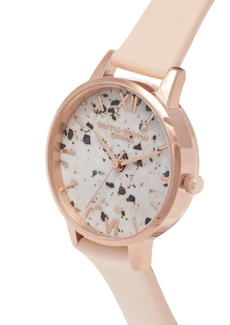 Vintage Marble Midi Watch - Nude Peach & Rose Gold main image