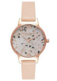 Olivia Burton Vintage Marble Midi Watch - Nude Peach & Rose Gold