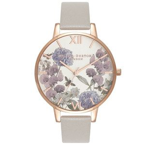 Parlour Floral Bee Watch - Grey & Rose Gold
