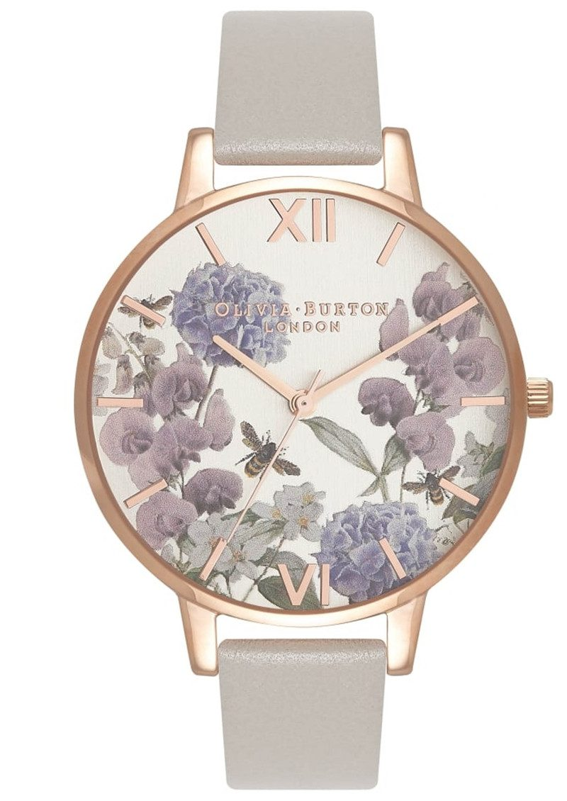 Olivia Burton Parlour Floral Bee Watch - Grey & Rose Gold main image