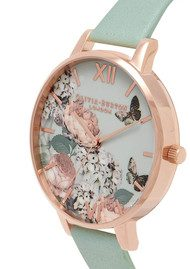 Olivia Burton Enchanted Garden Watch - Mint & Rose Gold