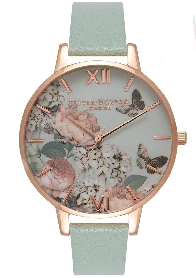 Olivia Burton Enchanted Garden Watch - Mint & Rose Gold main image