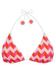 HEIDI KLEIN Sophie Anderson Rosario Triangle Bikini Top - Pink