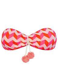 HEIDI KLEIN Sophie Anderson Rosario Bandeau Bikini Top - Pink