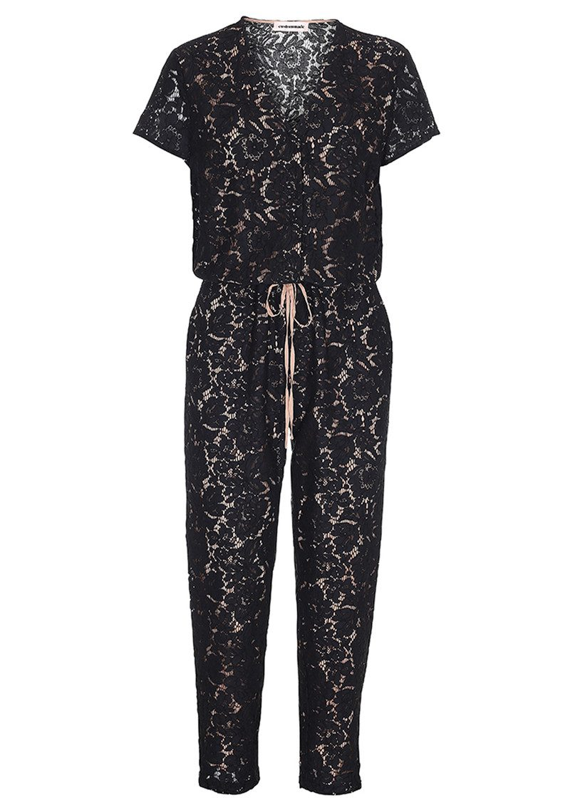 CUSTOMMADE Malle Lace Jumpsuit - Anthracite Black main image
