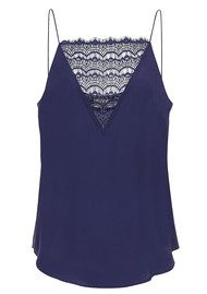 CUSTOMMADE Elvira Lace Camisole - Evening Blue