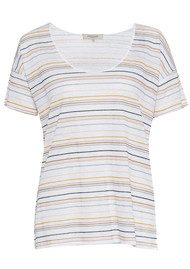 Great Plains Sugar Stripe Colour T-Shirt - Multi