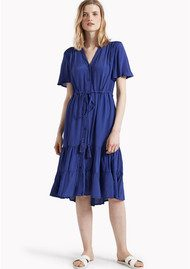 Great Plains Darcy Crepe Dress - Cuban Blue