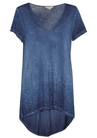 Great Plains Krystal Dye T-Shirt - Petrol Blue