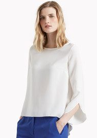 Great Plains Olivia Crepe Fluid Blouse - Latte Cream