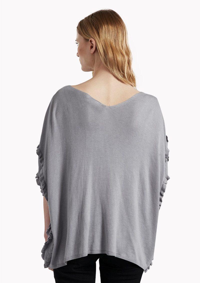 Great Plains Flori Frill Knit Top - Marble Grey main image