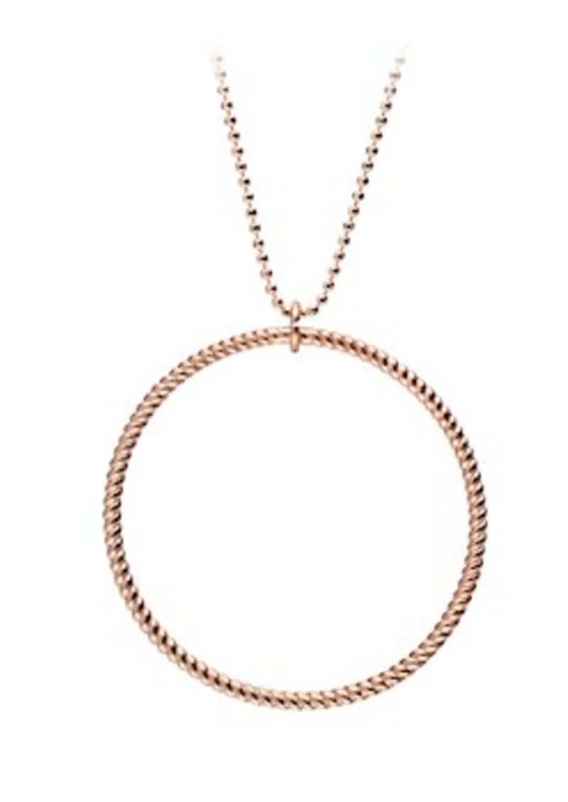 Big Twisted Necklace - Rose Gold main image