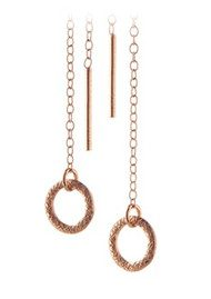 PERNILLE CORYDON Circle Earchain - Rose Gold