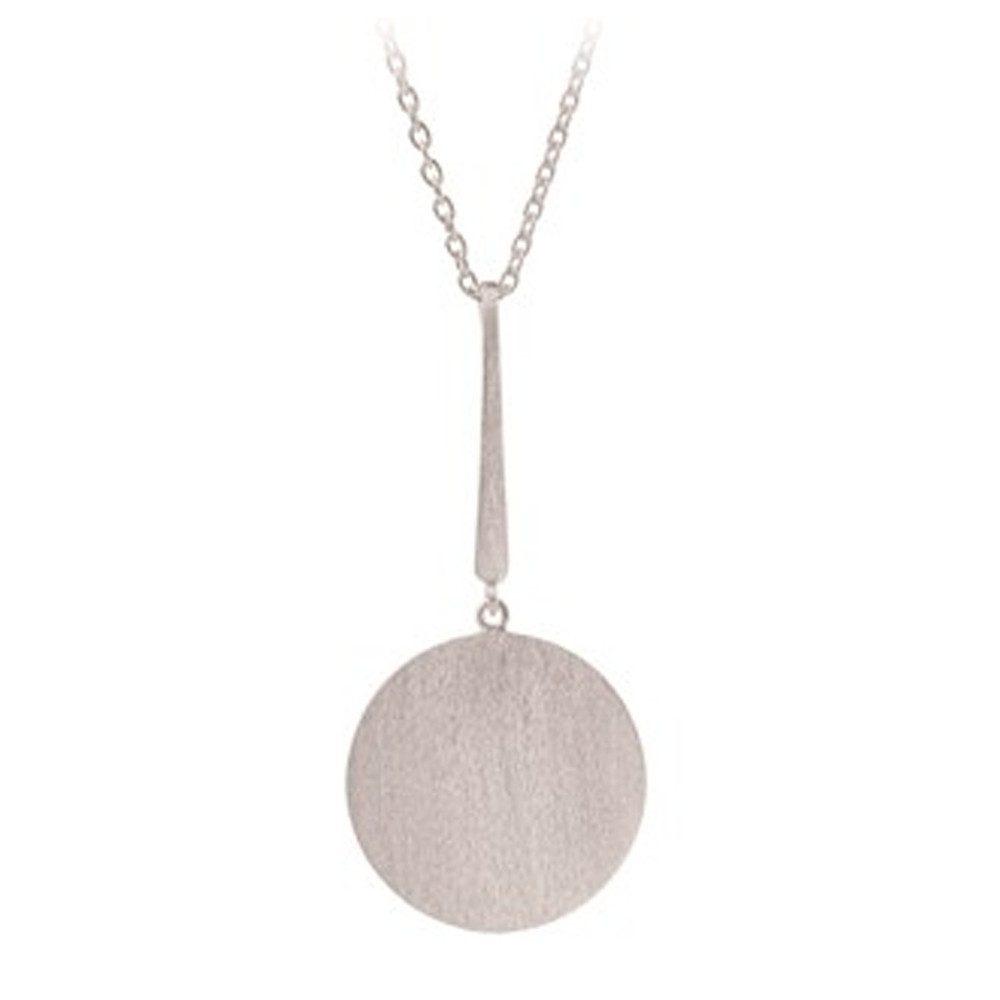 Long Coin Necklace - Silver