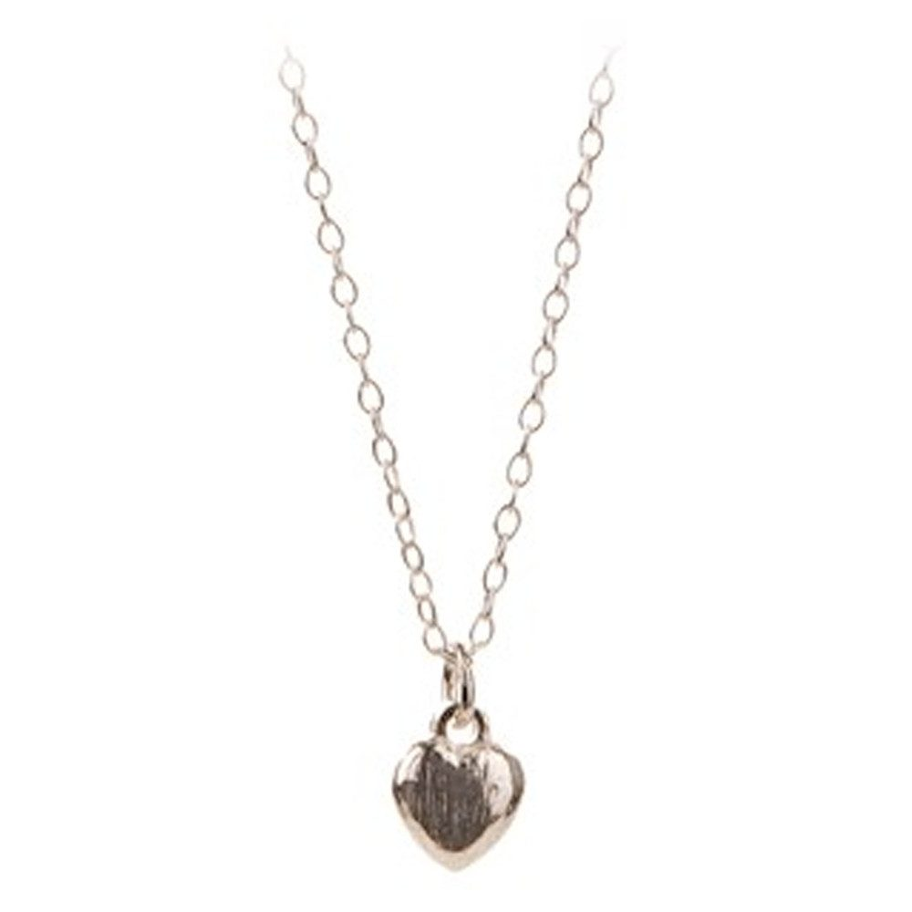 Mini Heart Necklace - Silver