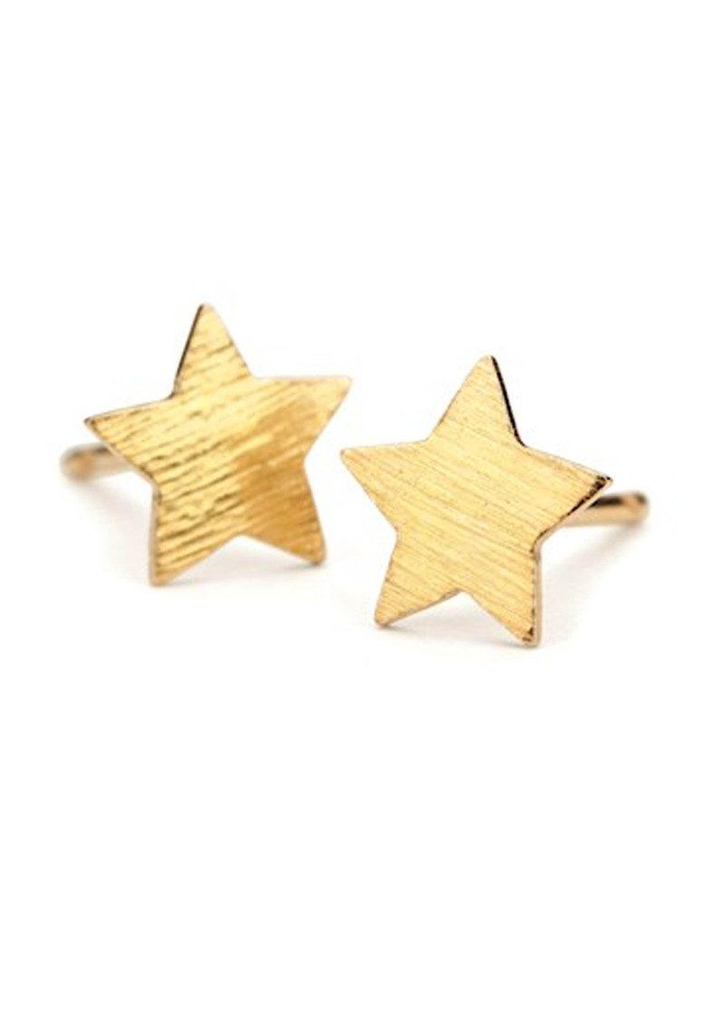 PERNILLE CORYDON Medium Star Earrings - Gold main image