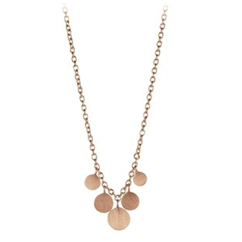 Mini Coin Necklace - Rose Gold