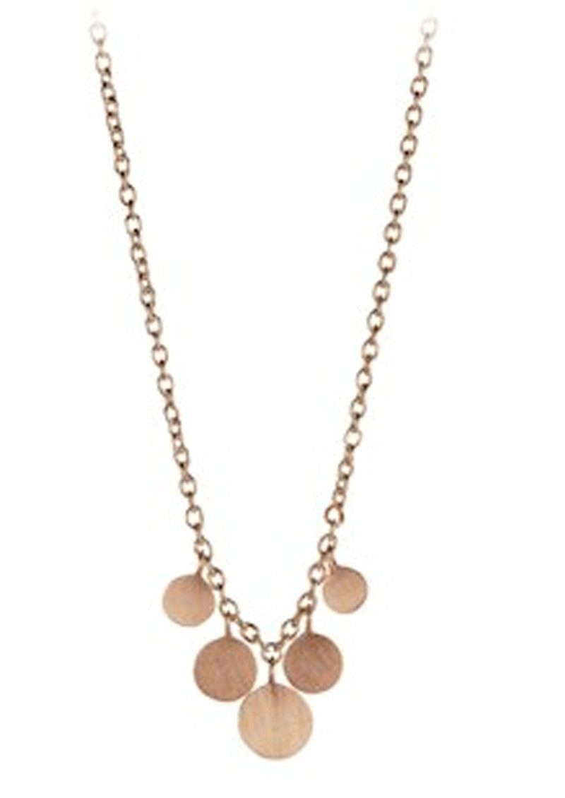 PERNILLE CORYDON Mini Coin Necklace - Rose Gold main image