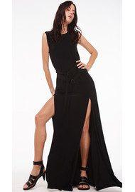 KAMALI KULTURE Sleeveless Elephant Dress - Black