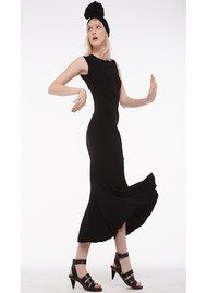 KAMALI KULTURE Sleeveless Fishtail Dress - Black
