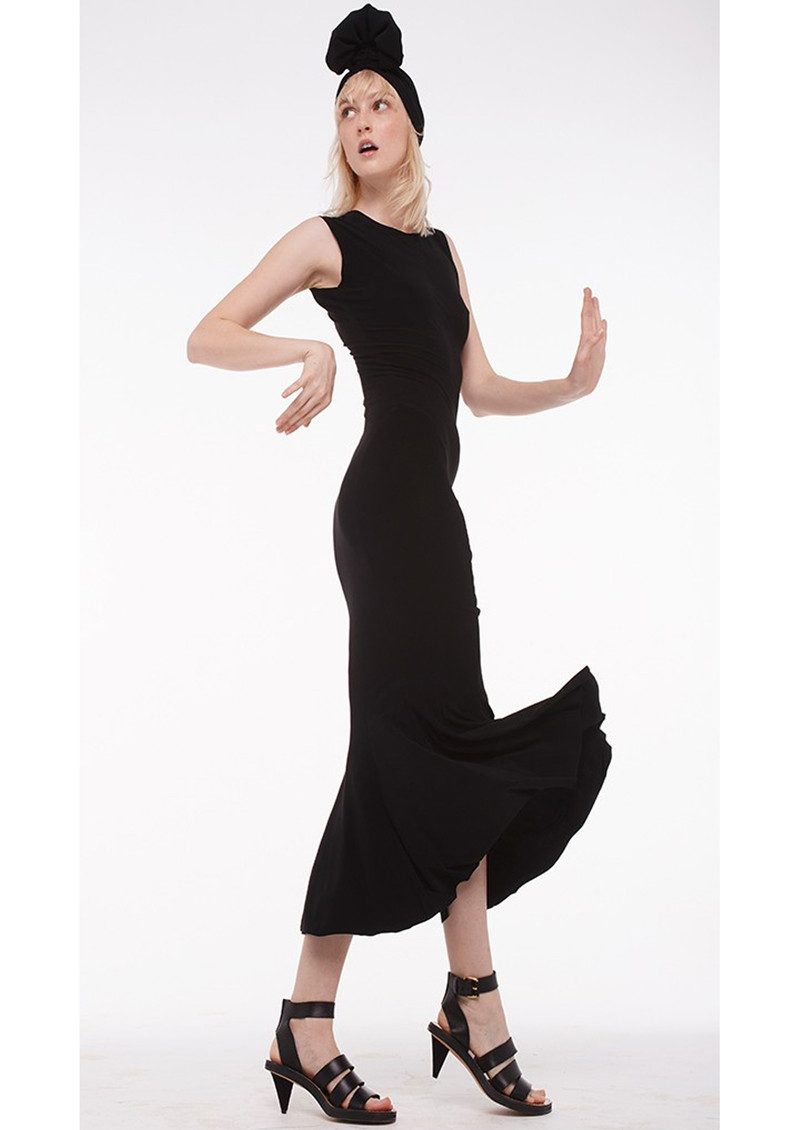 KAMALI KULTURE Sleeveless Fishtail Dress - Black main image