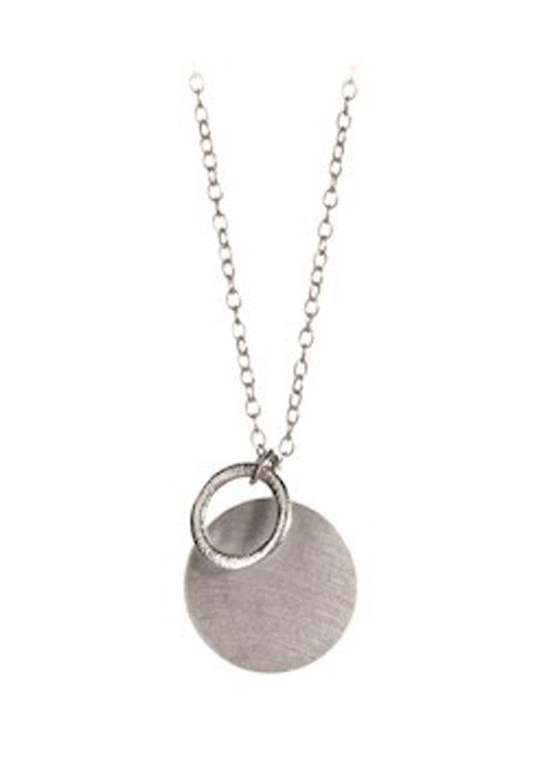 PERNILLE CORYDON Coin & Circle Necklace - Silver main image