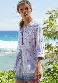 Rails Charli Shirt - Mermaid Stripe