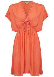 BON BON BEACH Lagoon Dress - Coral