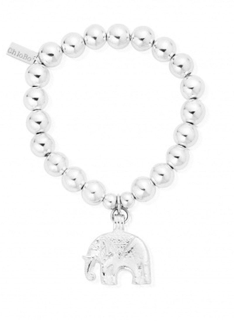 ChloBo Medium Ball Bracelet With Elephant Charm - Silver main image
