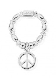 ChloBo Rice & Disc Ring With Peace Charm