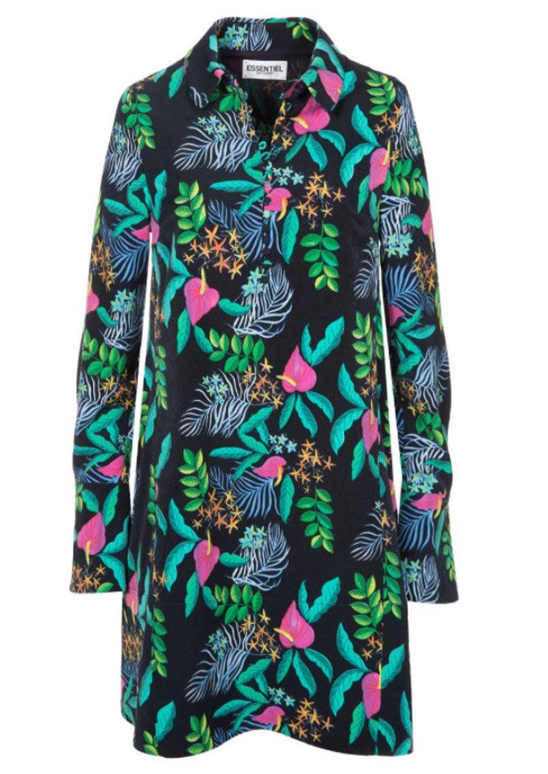 Essentiel Ohanna Printed Dress - Chinese Blue main image
