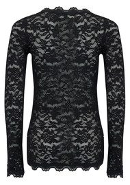 Rosemunde Delicia Long Sleeve Lace Top - Black