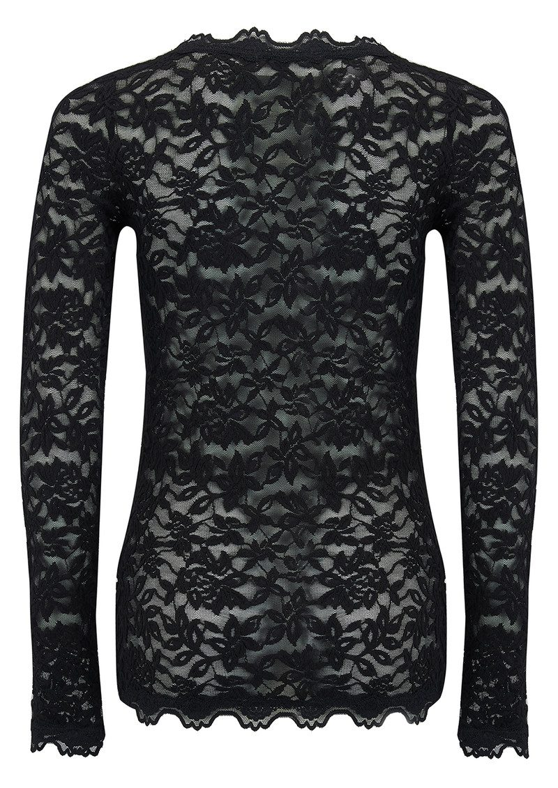 Rosemunde Delicia Long Sleeve Lace Top - Black main image