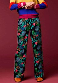 Essentiel Orake Printed Trousers - Chinese Blue