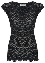 Rosemunde Delicia Short Sleeve Lace Top - Black
