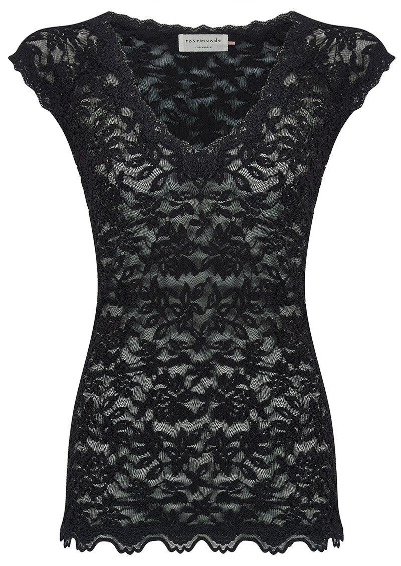 14fea4eb183291 Delicia Short Sleeve Lace Top - Black main image