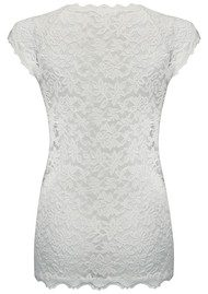 Rosemunde Delicia Short Sleeve Lace Top - New White